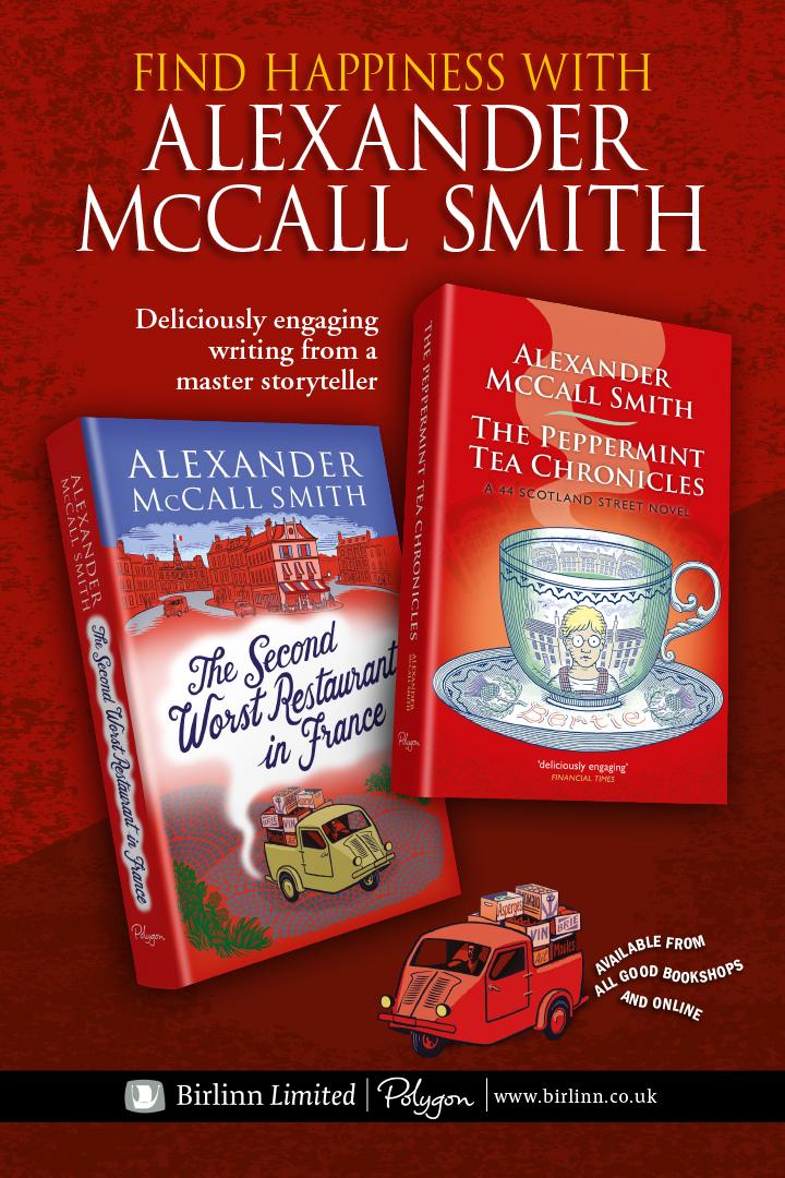 Alexander McCall Smith travel point advertising 2019