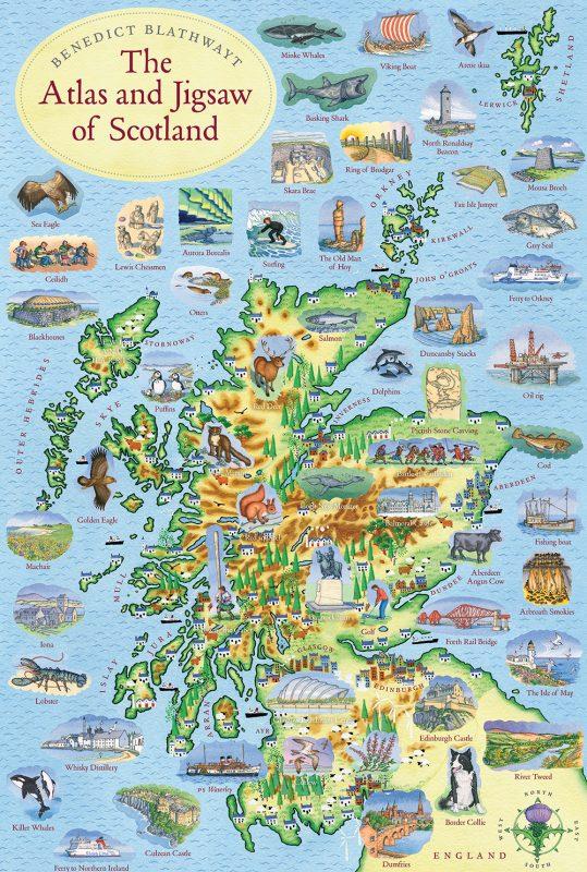 Isle of Tiree Scotland Travel UK GB Map  #45414 Blue Ballpoint Pen
