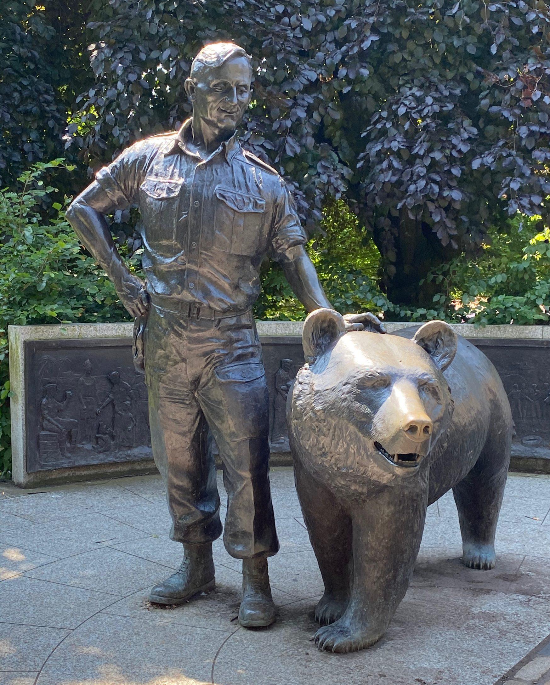 WOJTEK statue in Edinburgh's Princes Street Gardens, J Rutherford